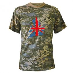 Камуфляжная футболка Флаг Англии - FatLine