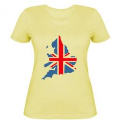 Женская футболка Флаг Англии - FatLine