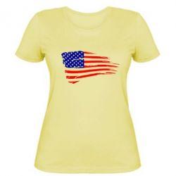 Женская футболка Флаг США - FatLine