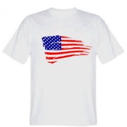 Мужская футболка Флаг США - FatLine