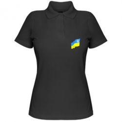 Женская футболка поло Флаг Украины с Гербом - FatLine