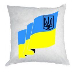 Подушка Флаг Украины с Гербом - FatLine