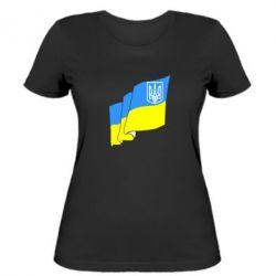 Женская футболка Флаг Украины с Гербом - FatLine