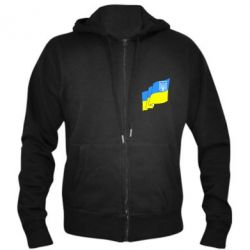 Мужская толстовка на молнии Флаг Украины с Гербом - FatLine