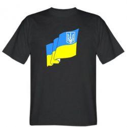 Мужская футболка Флаг Украины с Гербом - FatLine