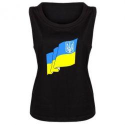 Женская майка Флаг Украины с Гербом - FatLine