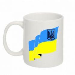 Кружка 320ml Флаг Украины с Гербом - FatLine