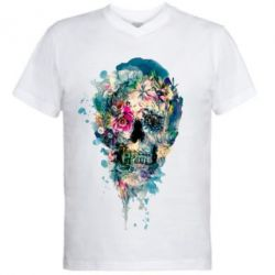 ������� ��������  � V-�������� ������� Flower Skull 4 - FatLine