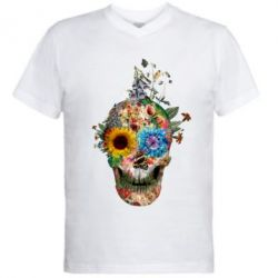 ������� ��������  � V-�������� ������� Flower Skull 5 - FatLine