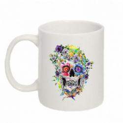 Кружка 320ml Flower Skull - FatLine