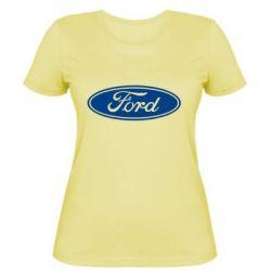 Женская футболка Ford Logo - FatLine