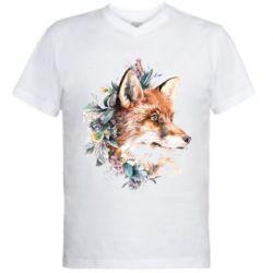 Мужская футболка  с V-образным вырезом Fox Art
