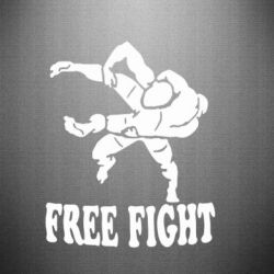 Наклейка Free Fight - FatLine
