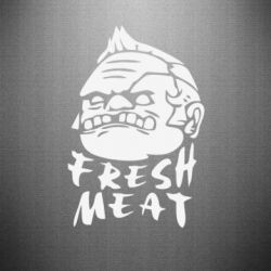 Наклейка Fresh Meat Pudge - FatLine