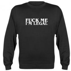 Реглан Fuck me i'm legal - FatLine