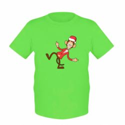 ������� �������� Funny Christmas monkey - FatLine