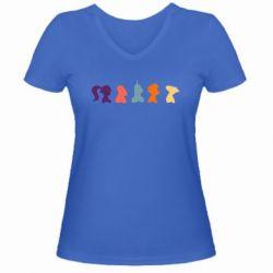 Женская футболка с V-образным вырезом Futurama