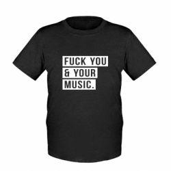 Детская футболка FY & YM