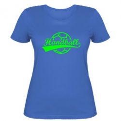 Женская футболка Гандбол Лого - FatLine