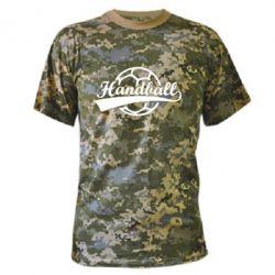 Камуфляжная футболка Гандбол Лого - FatLine
