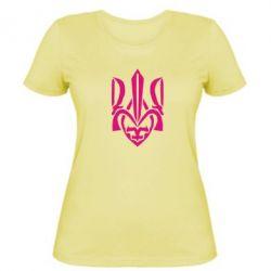 Женская футболка Гарний герб України - FatLine