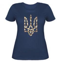 Женская футболка Герб Хаки - FatLine