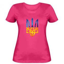 Женская футболка Герб из ломанных линий - FatLine