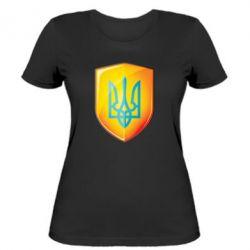 Женская футболка Герб на щиті - FatLine