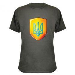 Камуфляжная футболка Герб на щиті - FatLine