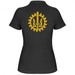 Женская футболка поло Герб у сонці - FatLine