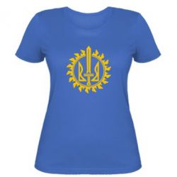 Женская футболка Герб Правого Сектору у сонці - FatLine