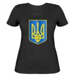 Женская футболка Герб України 3D - FatLine