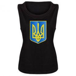 Женская майка Герб України 3D - FatLine