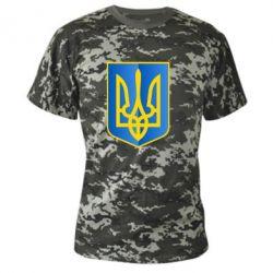 Камуфляжная футболка Герб України 3D - FatLine