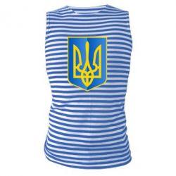 Майка-тельняшка Герб України 3D - FatLine