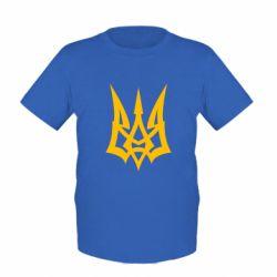 Детская футболка Герб України новий - FatLine
