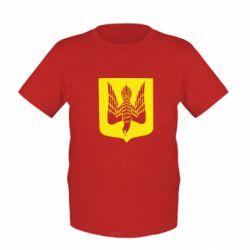 Детская футболка Герб України голуб - FatLine
