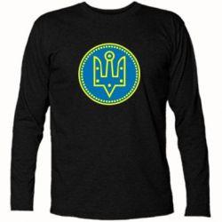 Футболка с длинным рукавом Герб України у колі - FatLine