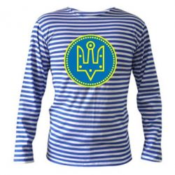 Тельняшка с длинным рукавом Герб України у колі - FatLine