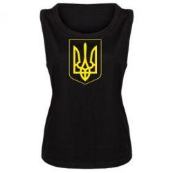 Женская майка Герб України з рамкою - FatLine