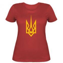 Женская футболка Герб України загострений - FatLine