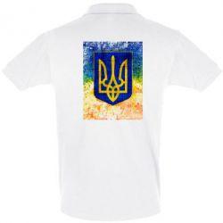 Футболка Поло Герб Украины цвет