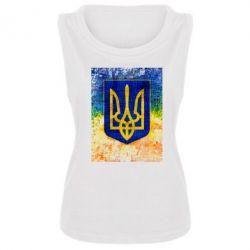 Женская майка Герб Украины цвет