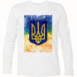 Футболка с длинным рукавом Герб Украины цвет