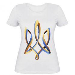 Женская футболка Герб Украины Лента - FatLine