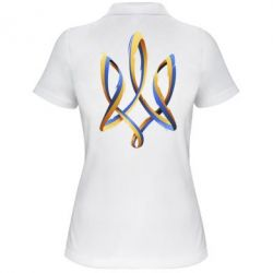 Женская футболка поло Герб Украины Лента - FatLine