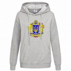 Женская толстовка Герб Украины полноцветный - FatLine