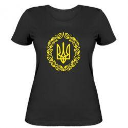 Женская футболка Герб Украины - FatLine