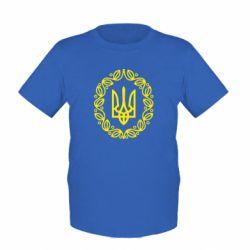 Детская футболка Герб Украины - FatLine
