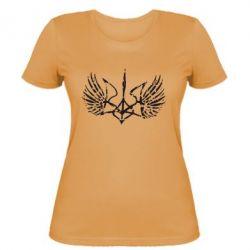 Женская футболка Герб з крилами - FatLine